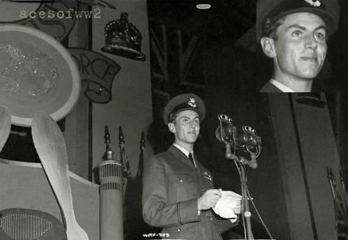 Ο Beurling σε ομιλία στη γενέτειρά του, Verdun. Πηγή: http://acesofww2.com/Canada/aces/beurling/